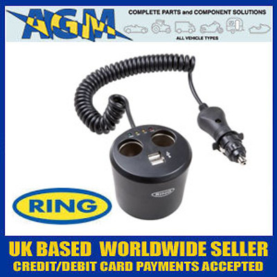 Ring RMS10 Powering - 12v Twin Can Multisocket with Twin USB