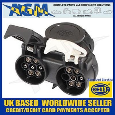 Hella Towing Socket Adapter 13 Pin to 2 x 7 Pin (12N and 12S)