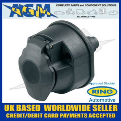 Ring 13 Pin Plastic Towing Socket - A0032