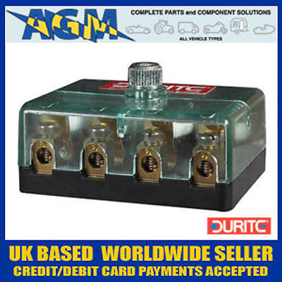 Durite 0-234-00 4 Way Fuse Box for Ceramic Fuses