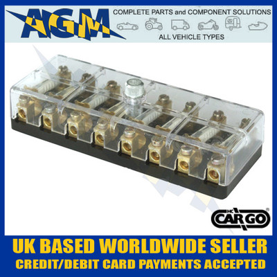Cargo 190774 Fuse Box For Ceramic Fuses - 8 Way