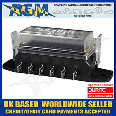 Durite 0-234-26 Fuse Box For Standard Fuses - 6 Way