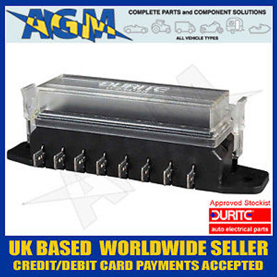 Durite 0-234-28 Fuse Box For Standard Fuses - 8 Way