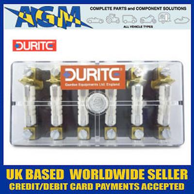 Durite 0-236-00 Fuse Box For Ceramic Fuses - 6 Way