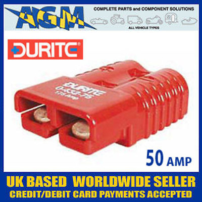 Guardian PC1RR/Durite 0-432-05 Red High Current Anderson Connector 50 Amp
