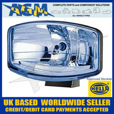 New Hella Jumbo 320FF BLUE Tinted Glass Driving Lamp