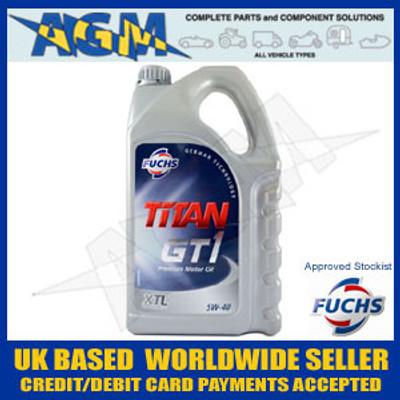Fuchs Titan 600764524 GT1 XTL 5W-40 Fully Synthetic Low Ash Oil 5 Ltr