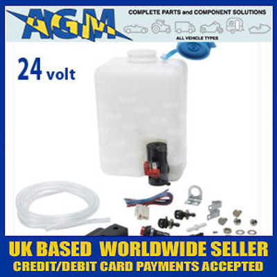 Windscreen Washer Bottle Kit 24 Volt Ideal for Trucks, Forklifts etc..