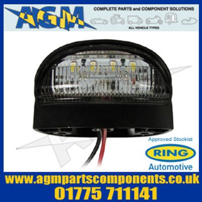 Ring RCT786 4 LED Number Plate Lamp/Light 12/24v