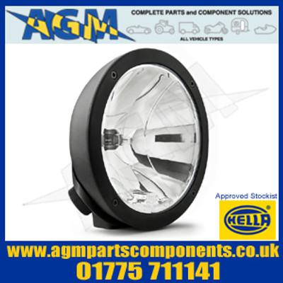 Hella 1F3 009 094-021 Black Metal Clear Luminator Compact Halogen Driving Lamp