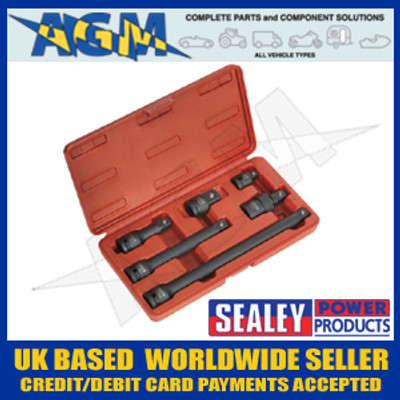 "Sealey AK5514 Impact Adaptor & Extension Bar Set 6pc 1/2""Sq Drive"