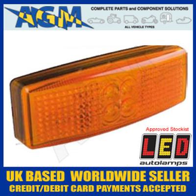 LED Autolamps 1490AM 12/24v LED AMBER Side Marker Lamp