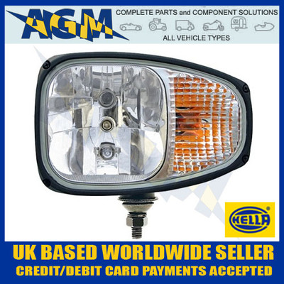 Hella 1LE 996 174-311 C220 Left Head Lamp with Built In Flasher Lamp