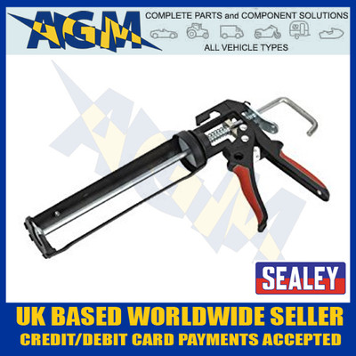 SEALEY AK4801 Caulking Gun Heavy-duty takes 220mm Cartridges of Silicone