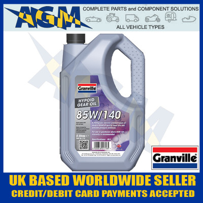 Granville 1716 EP 85w/140 Hypoid Gear Oil 5 Ltr