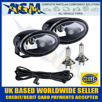 Pair of New HELLA FF50 Spot/Driving Lamps Boxed Set Including Fitting Kit