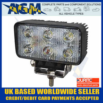 Durite 0-420-71 SIX LED Work Lamp Search light 12-24 V with Polycarbonate Lens