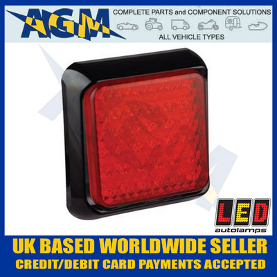 LED Autolamps Red Stop/Tail Light/Lamp 100mm Square 80RME