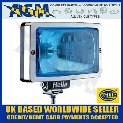 Brand New Hella Jumbo 220 BLUE Lens Glass Driving/Spot Lamp - Chrome