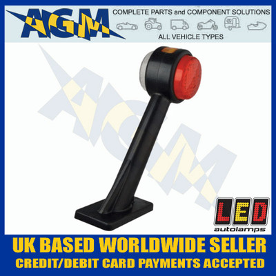 LED Autolamps 1005LE LEFT End Outline Marker Lamp on Stalk Red White Amber 12/24V