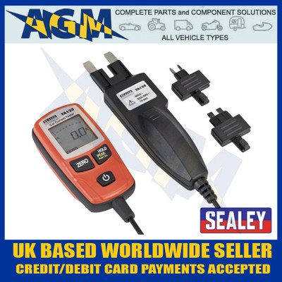 Sealey TA125 80 Amp Current Tester for Mini Standard and Maxi Blade Spade Fuses