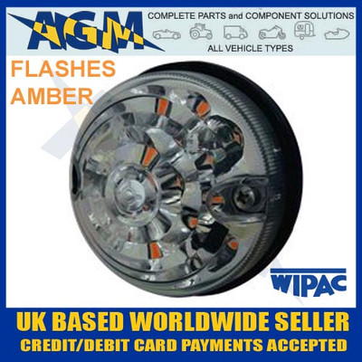 land, rover, s6063led, lsl, rdx, 73mm, 74mm, clear, amber, indicator, lamp, light, 12v, 24v