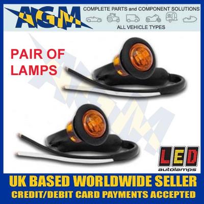 led, 181ame, trailer, round, front, marker, light, lamp, white, 12v, 24v