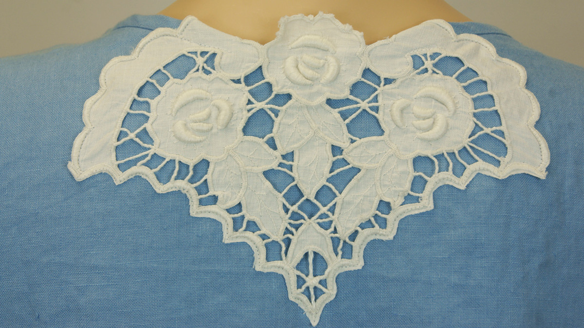 Blue Linen Lace Tunic
