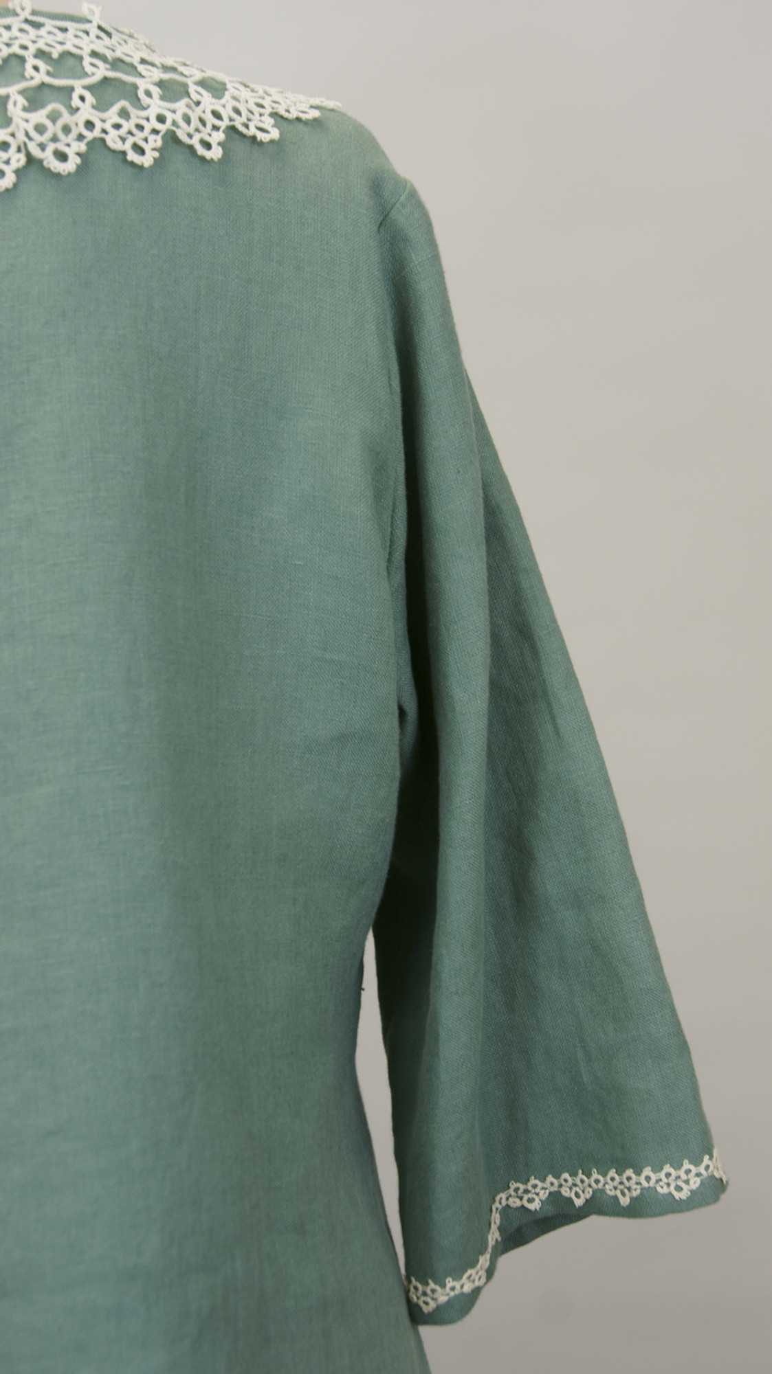 Green Linen Tunic Top (Size Xlarge)