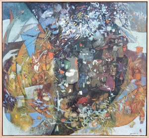 Mama Mom Mother Never Gone Abstract Oil on canvas by Lois Foley