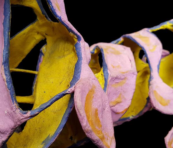 Papier-mâché cat sculpture detail 1