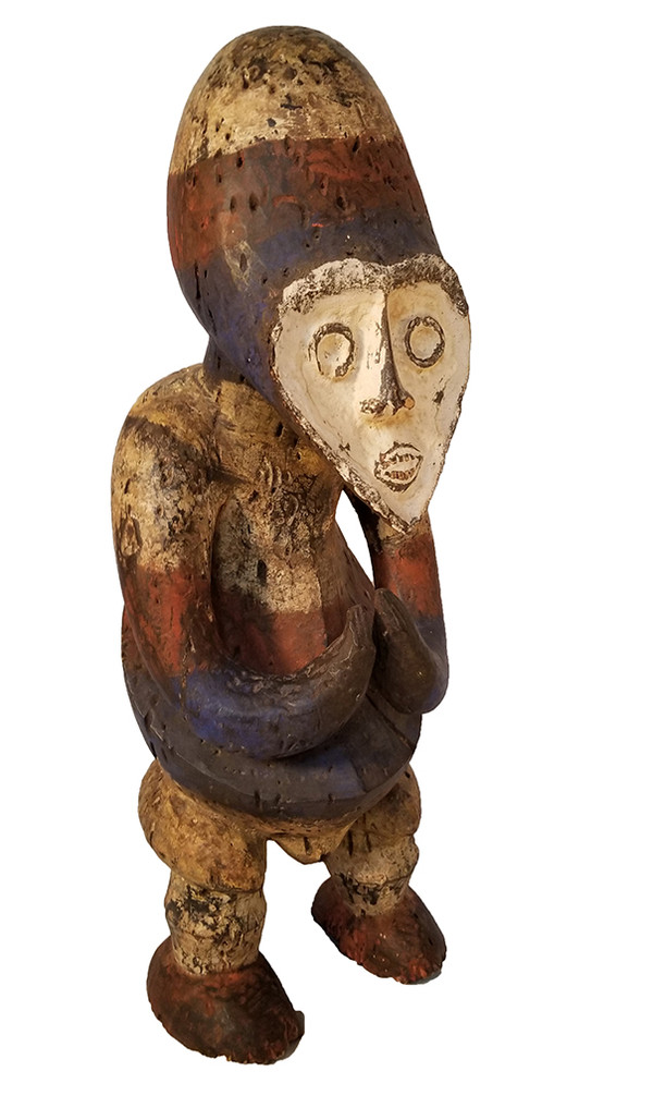 African Carved Fang Figure right face