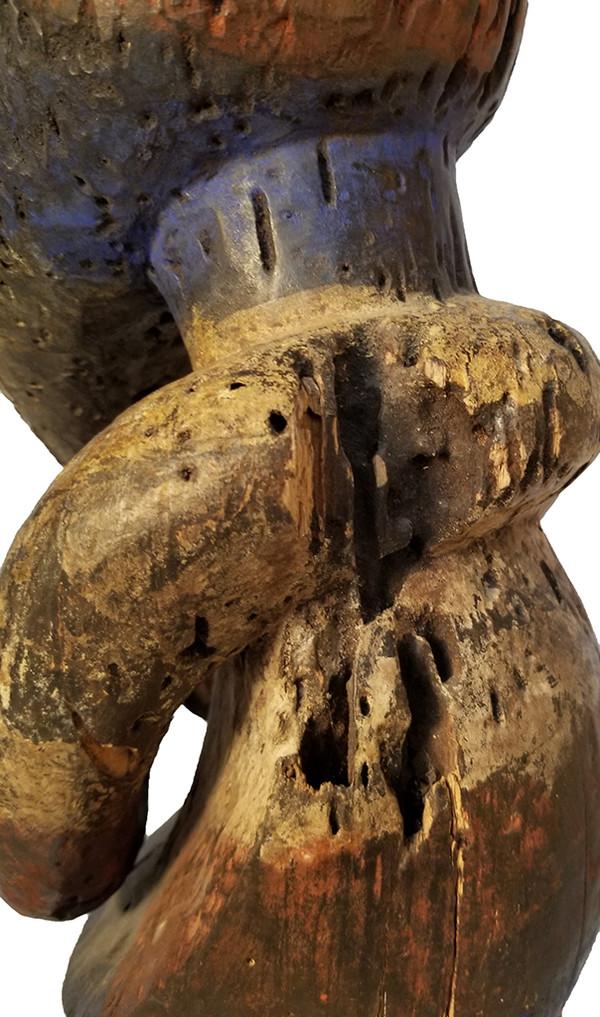 African Carved Fang Figure back left detail