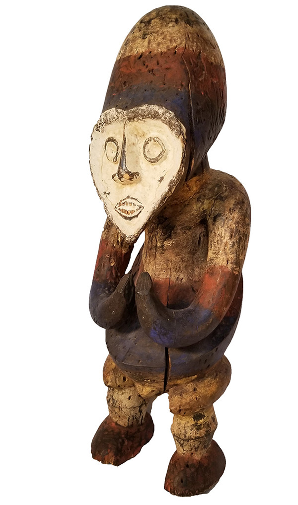 African Carved Fang Figure left face