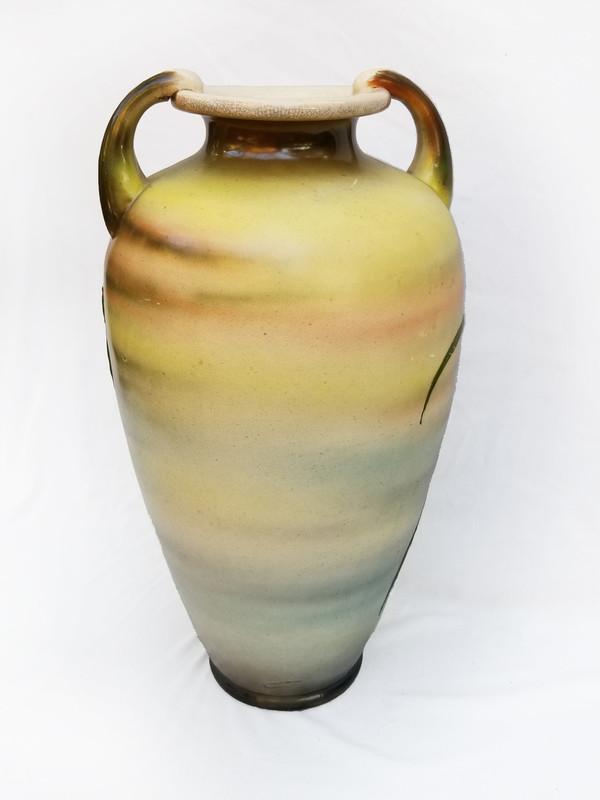 Bird and Iris Ceramic Vase reverse