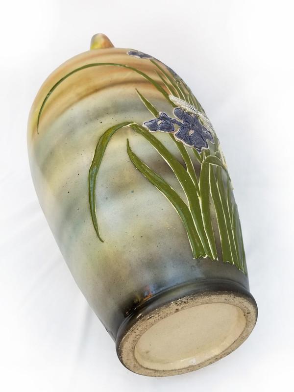 Bird and Iris Ceramic Vase underside