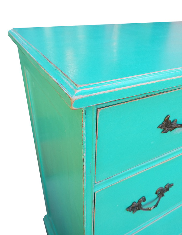 Tallboy Dresser in Teal
