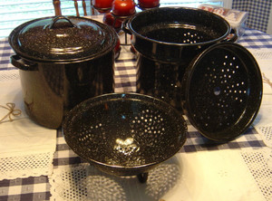 EVERYTHING POT BLK. ENAMELWARE
