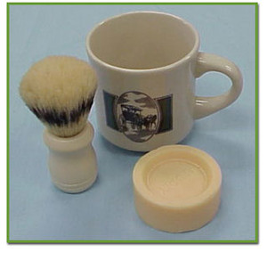 SHAVING MUG & BRUSH SET