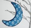 Moon-Christmas-Ornament-203013. Hand block print.