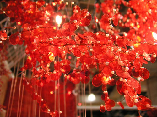 Red Shimmy Garland