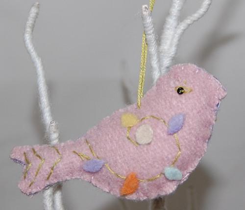 RIT13- Felt Dove Bird