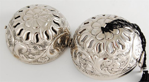 Silver Friendship Ball - Embossed Floral - Best Seller!!! - In Stock