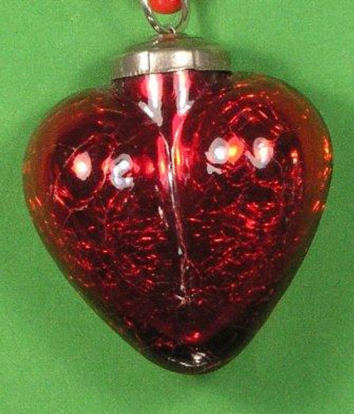 Heart Kugel Glass Red GM13R