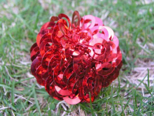 Ball Shimmy/beads Red TT10R