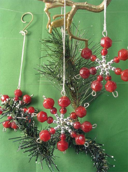 Snowflake bead Red BD343R