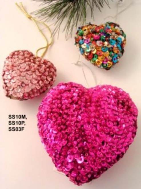 Heart Sequin Fuschia SS03F