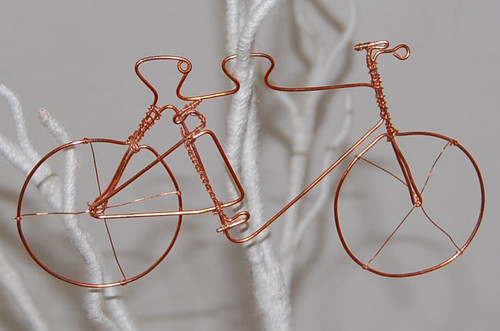Copper Cycle Ornament
