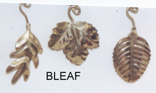 "Brass Leaf. Assorted. Priced each piece..Color: Gold. ..Size: 1x1.5""..Mater"