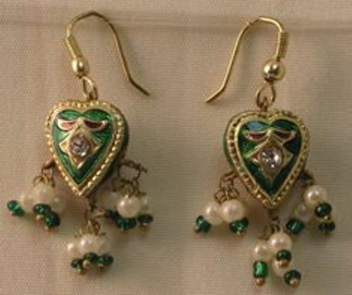 JLAKEN  GREEN EARRINGS
